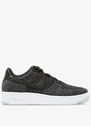 Nike AF1 Flyknit Low in Black 1