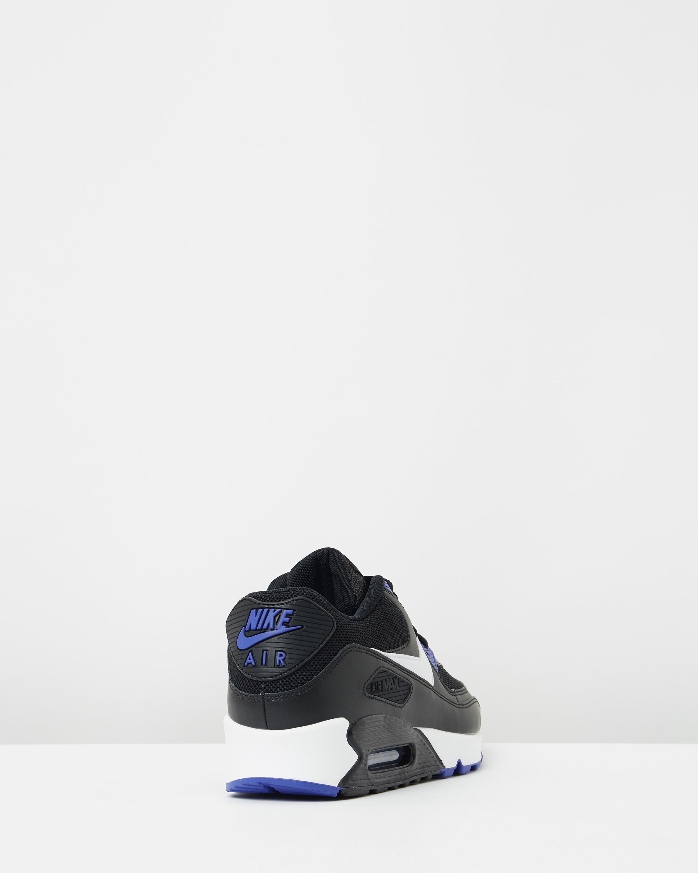 9e67d39435ae69 ... Nike Air Max 90 Essential Black White Persian Violet 2 ...