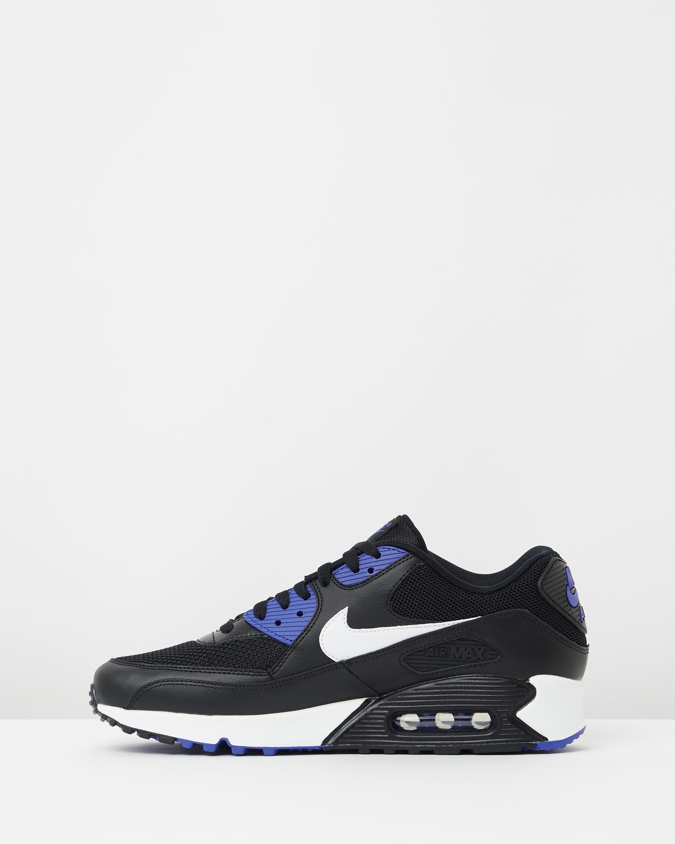 sports shoes 49fdd dc66d ... Nike Air Max 90 Essential Black White Persian Violet 3 ...