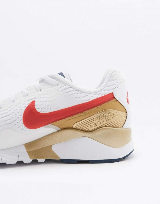 Nike Air Pegasus 92 Red Gold and Blue Trainers 3