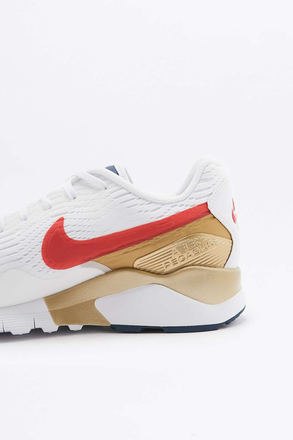 the best attitude be0ba 6ff8a Nike Air Pegasus 92 Red Gold and Blue Trainers 3 .