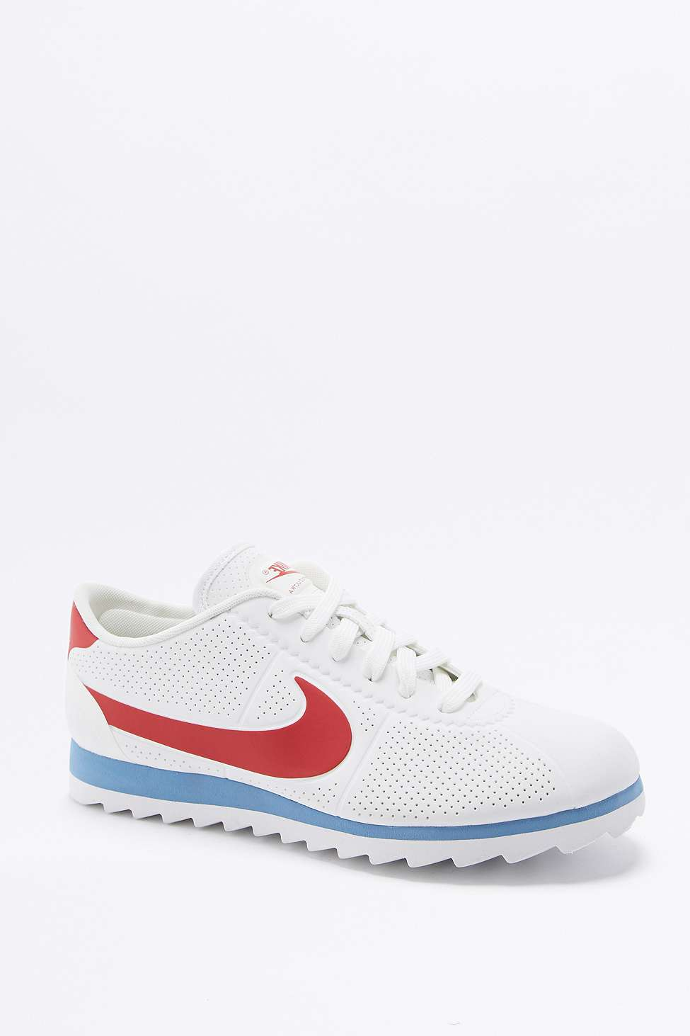 detailed look 7c218 316a0 Nike Cortez Ultra Moire Red, White, and Blue Sneakers