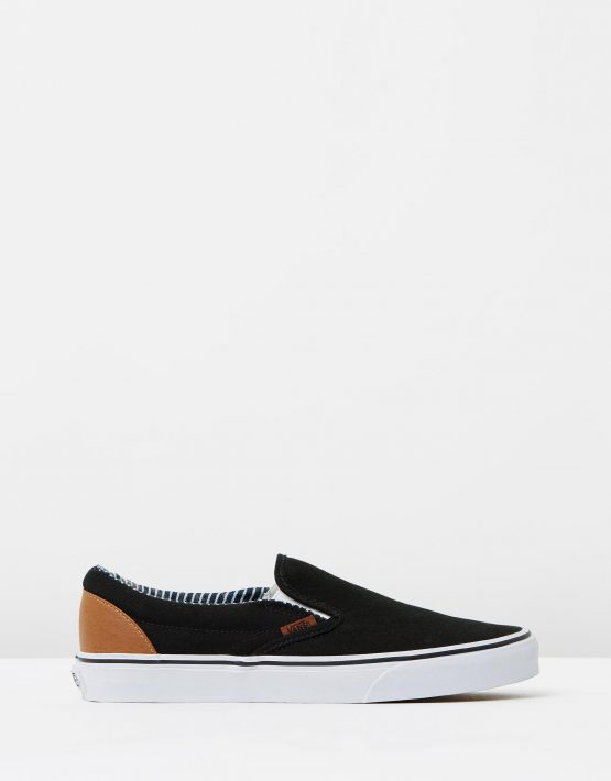 Vans Wmns Slip on Black stripe Denim 1