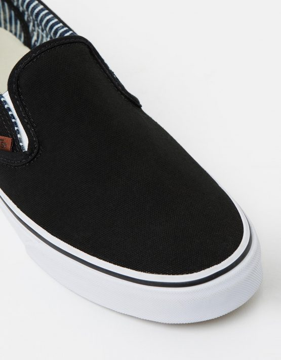 Vans Wmns Slip on Black stripe Denim 4