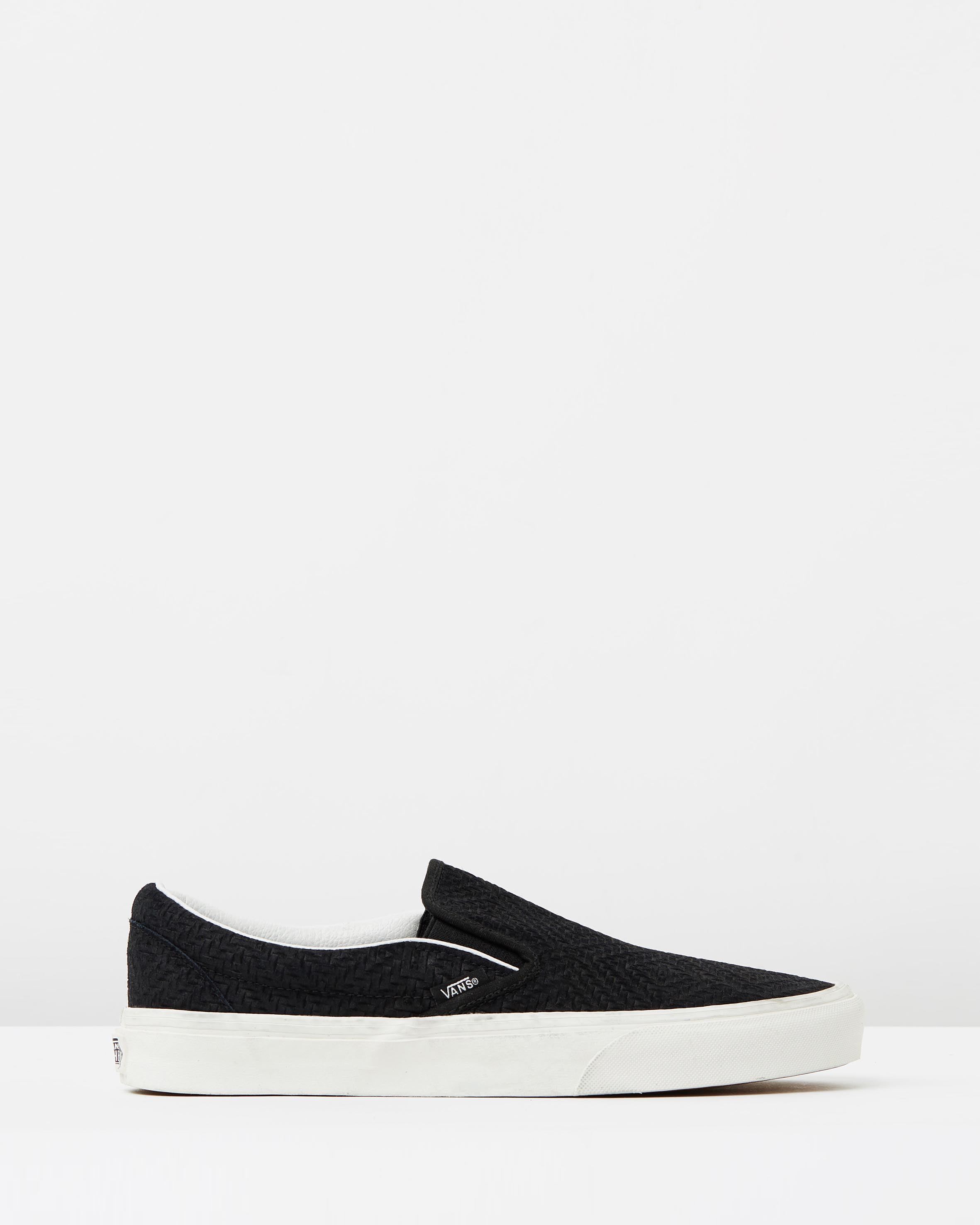 df1a781e84 Vans Womens Classic Slip On Black Suede Trainers 1 ...