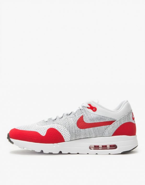 Wmns Nike Air Max 1 Ultra Flyknit White University Red 2