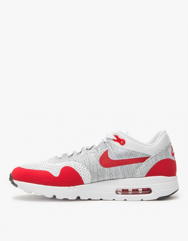 huge discount 77616 99d94 Wmns Nike Air Max 1 Ultra Flyknit White/University Red