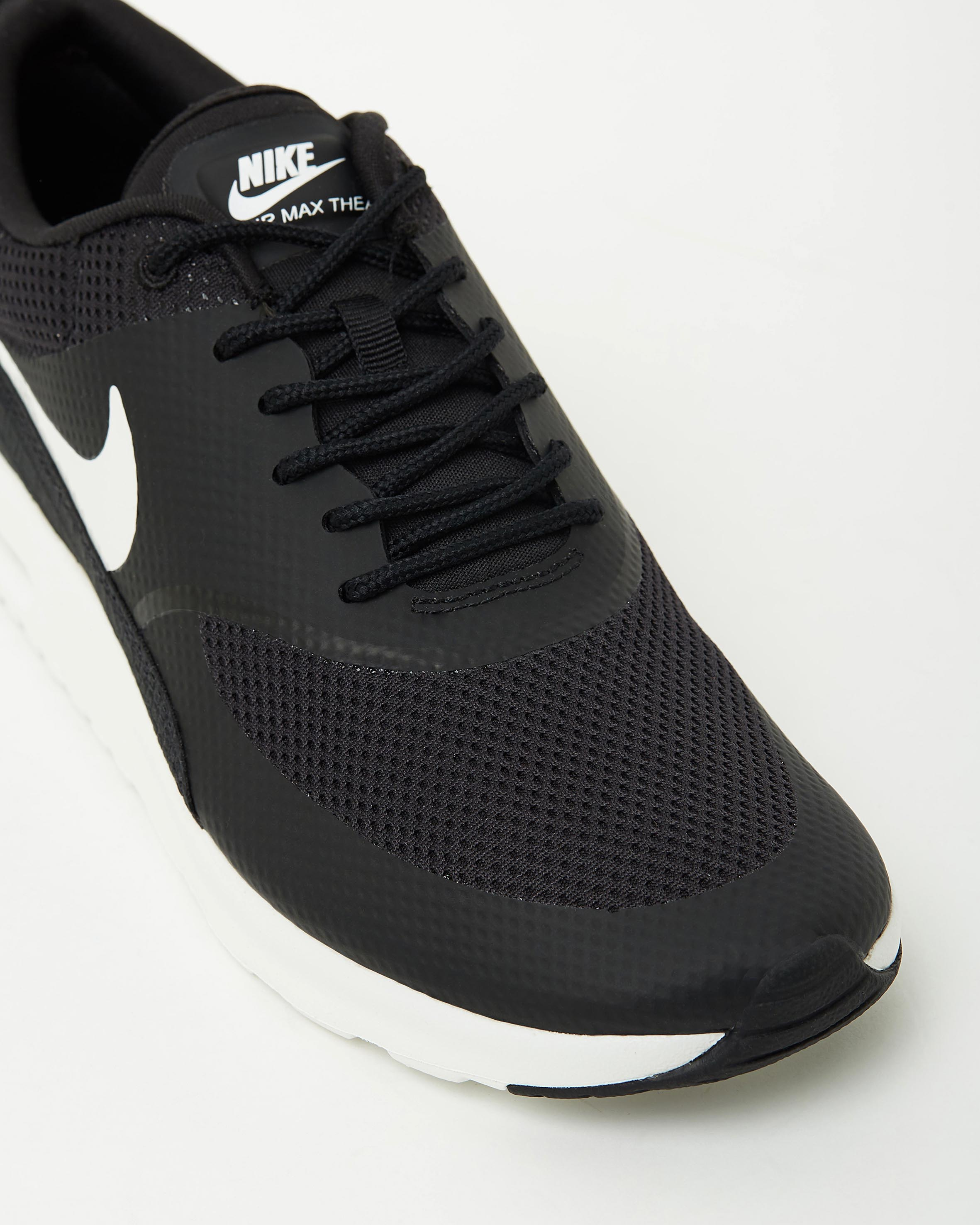 WomenMen Nike Air Max Thea BlackWhite