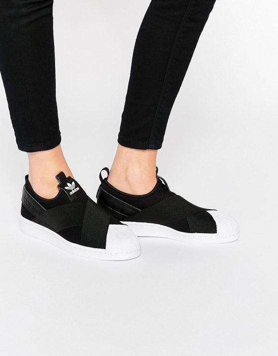 adidas Originals Black Superstar Slip On Trainers 1