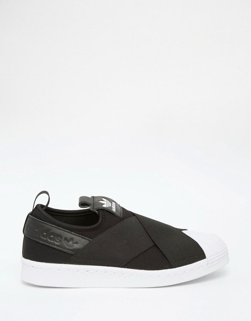 adidas Originals Black Superstar Slip On