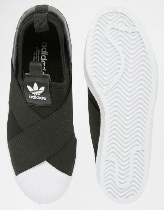 adidas Originals Black Superstar Slip On Trainers 3