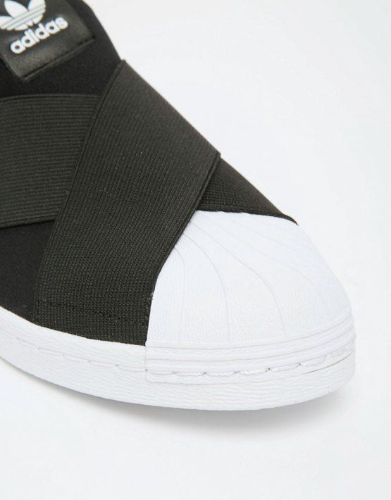 adidas Originals Black Superstar Slip On Trainers 4