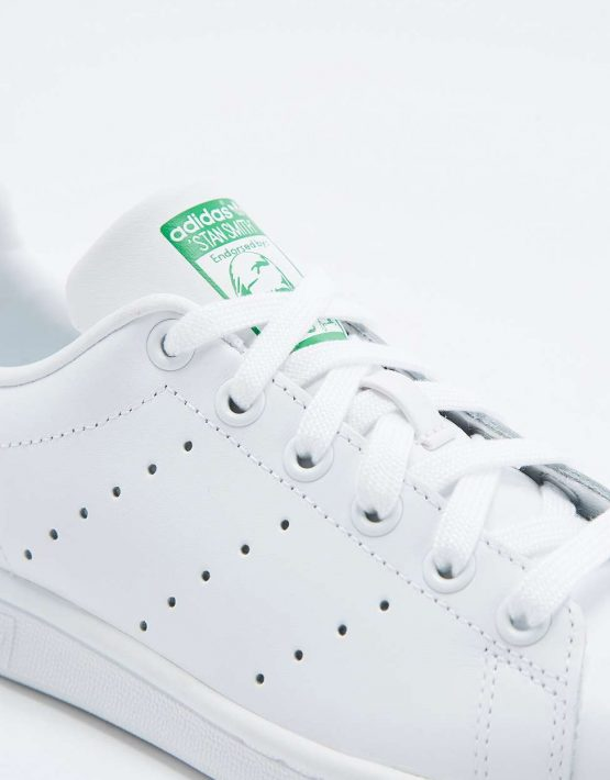 adidas Originals Stan Smith White and Green Trainers 3
