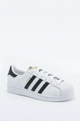 adidas Originals Superstar White and Black Trainers 1