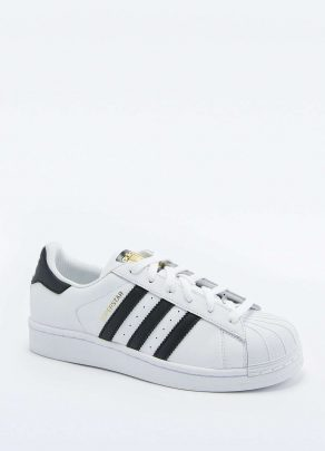 adidas Originals Superstar White and Black Trainers 1
