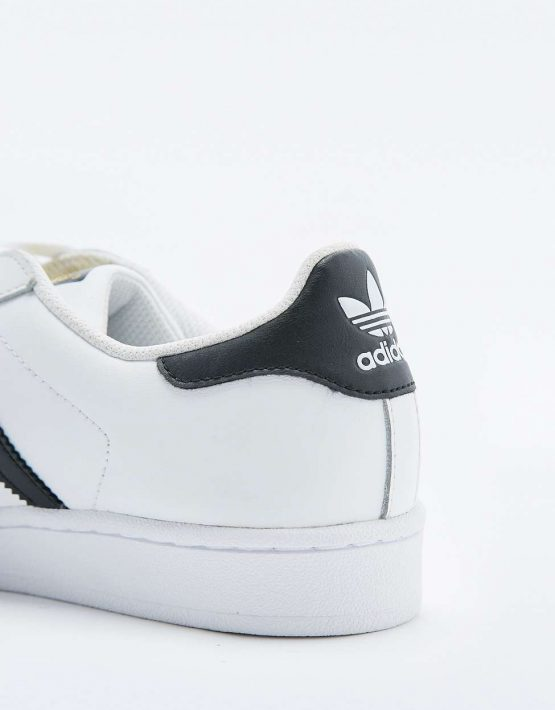 adidas Originals Superstar White and Black Trainers 3