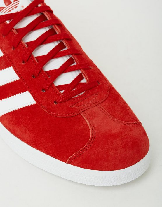 Adidas Mens Gazelle Power Red Sneakers 4