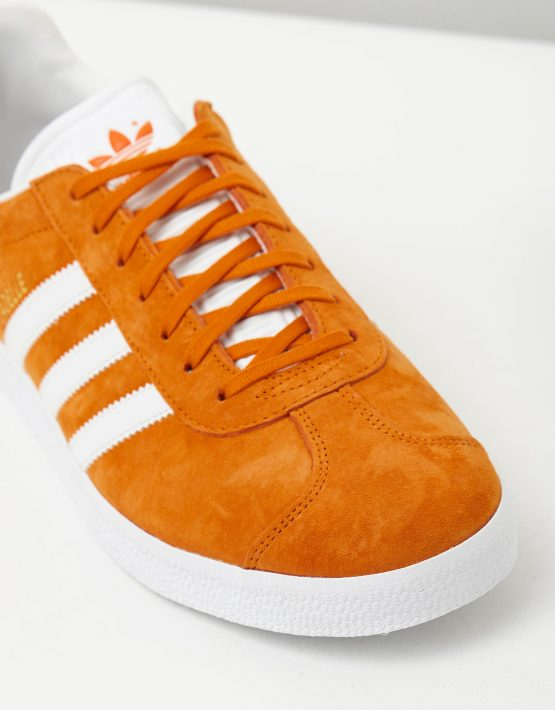 Adidas Mens Gazelle Unity Orange Sneakers 4