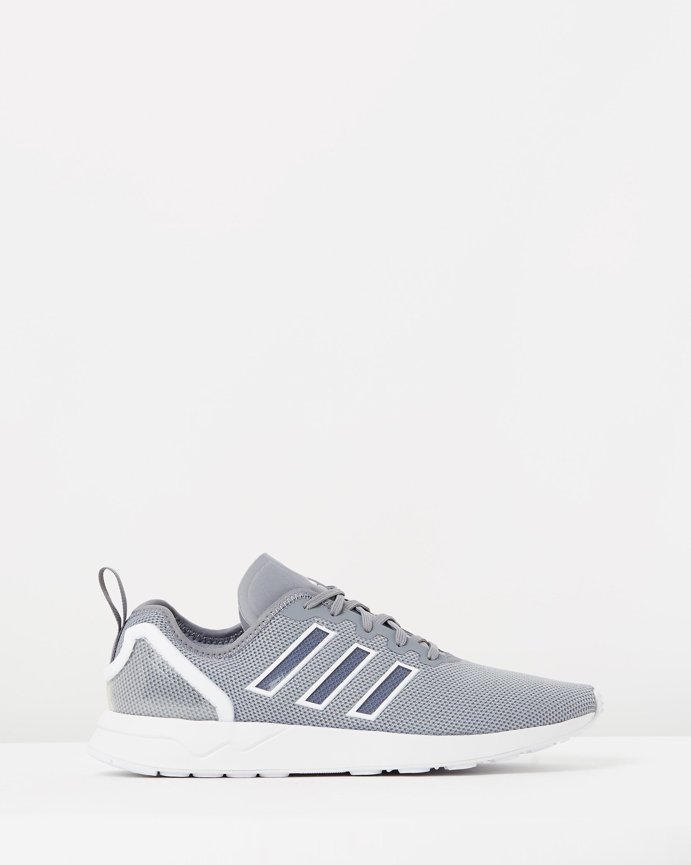 new product eb387 96d51 Adidas Men's ZX Flux ADV Grey & FTWR White
