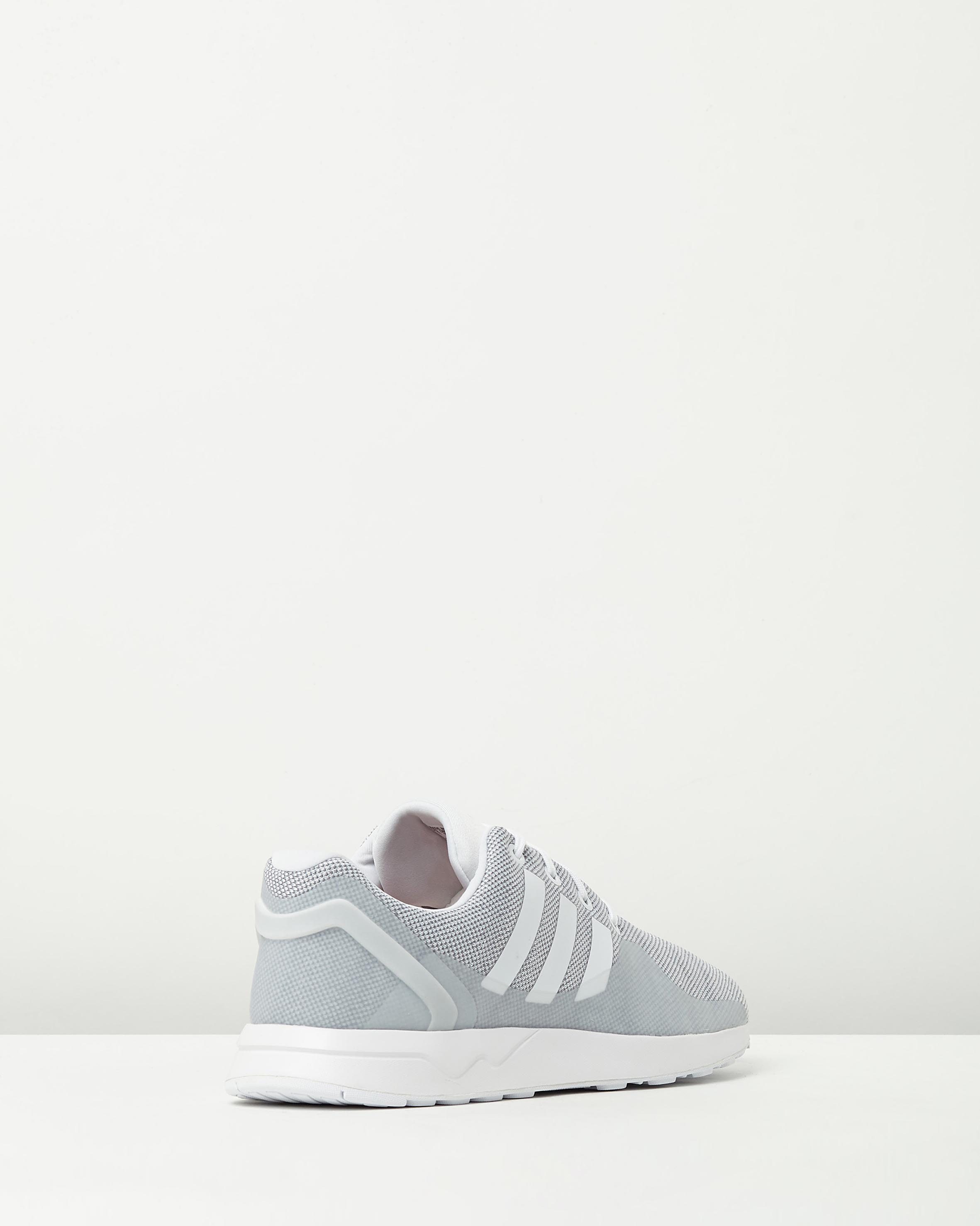 c37c174a04e61 ... Adidas Mens ZX Flux ADV Tech GREY WHITE 2 ...