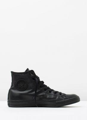 Converse Mens Chuck Taylor All Star Hi Black Monochrome Leather 1
