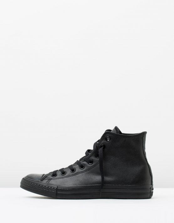 Converse Mens Chuck Taylor All Star Hi Black Monochrome Leather 3
