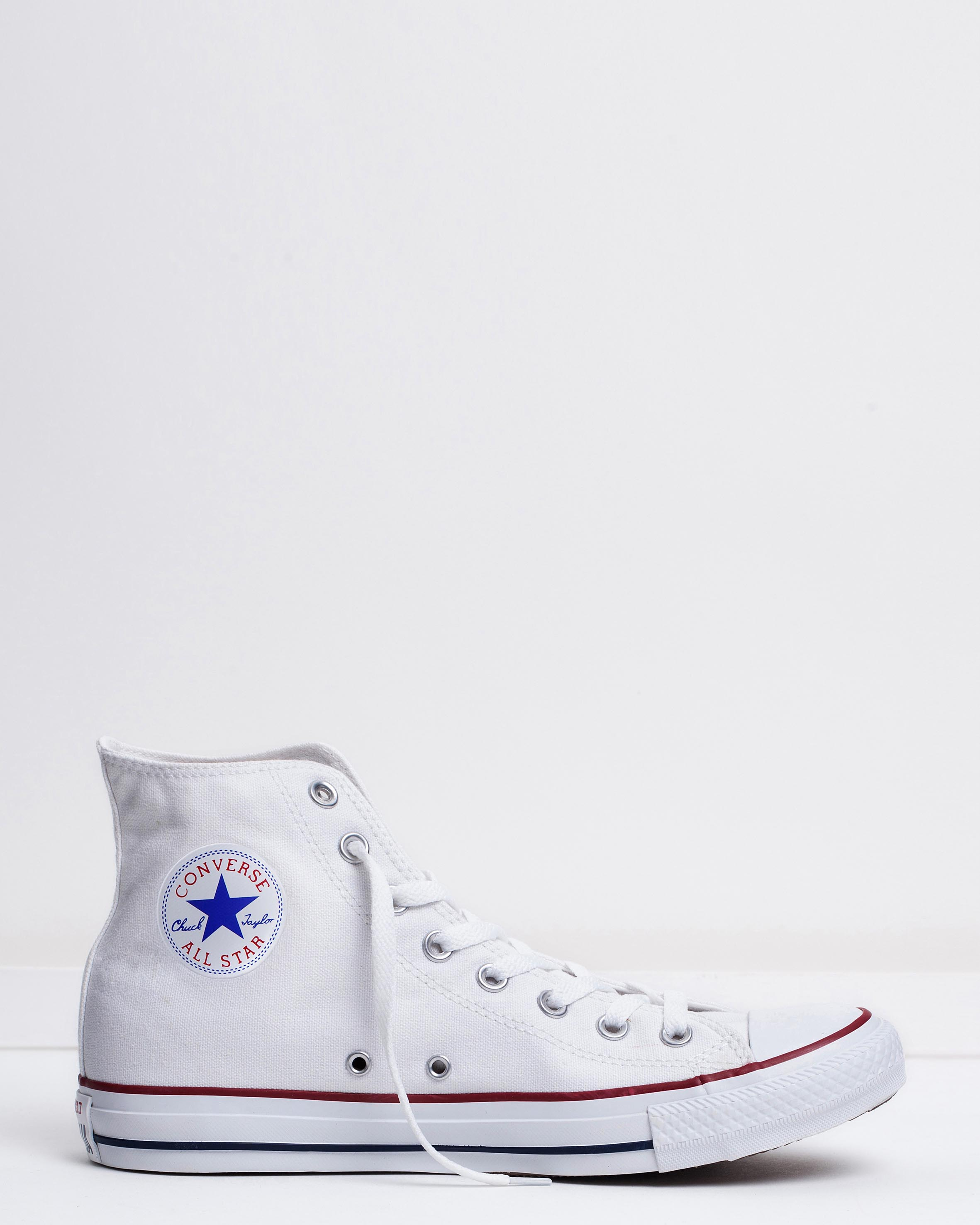 e2a8bcca Converse Men's Chuck Taylor All Star Hi Optical White | Sneaker ...