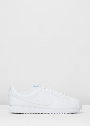 Nike Cortez Basic Leather White Wolf Grey Metallic Silver 1
