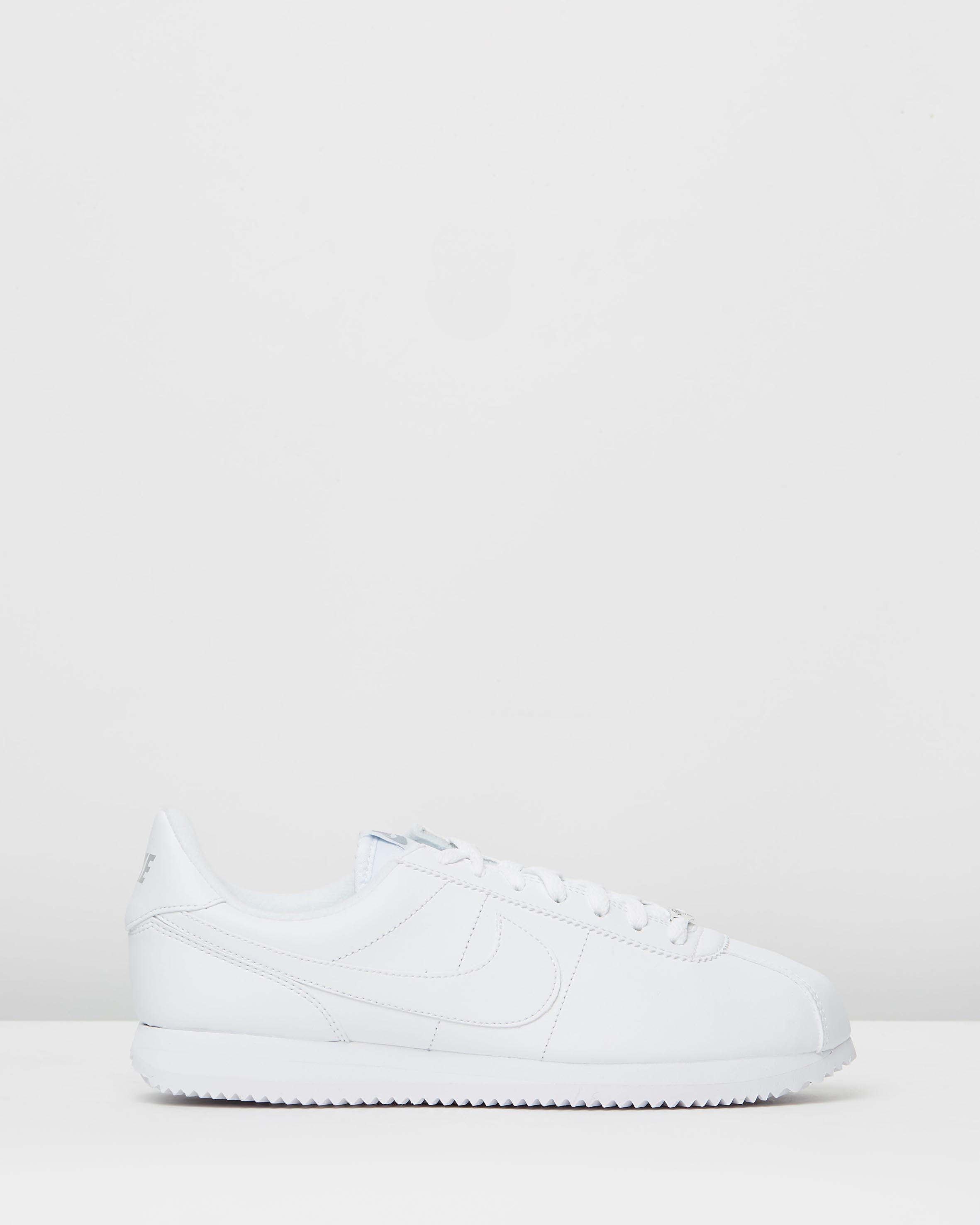 cheap for discount e9e27 23e76 Nike Cortez Basic Leather White, Wolf Grey & Metallic Silver