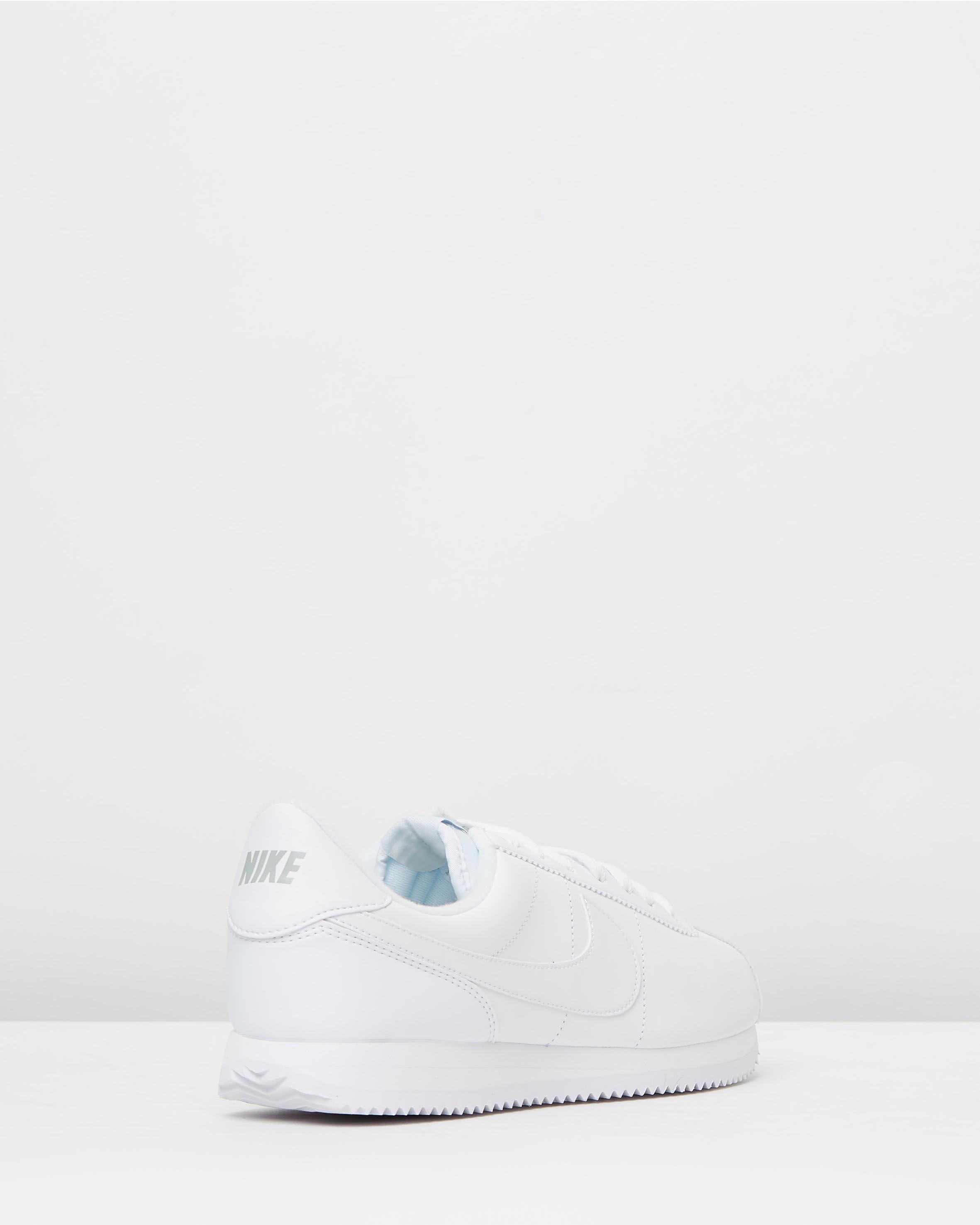 cheap for discount 11ffb 7ebb3 Nike Cortez Basic Leather White, Wolf Grey & Metallic Silver
