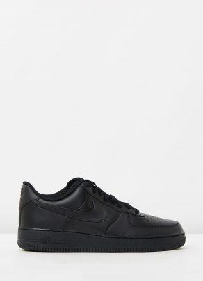 Nike Mens Air Force 1 07 Black Sneakers 1