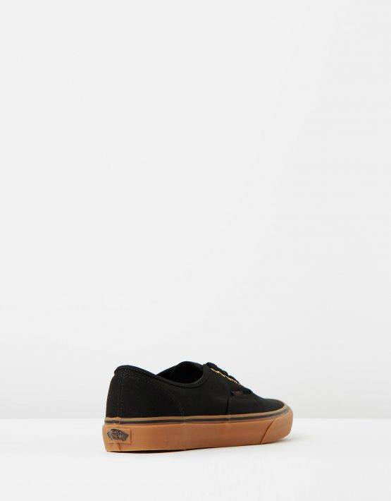 Vans Authentic Black Rubber Mens Trainers 2