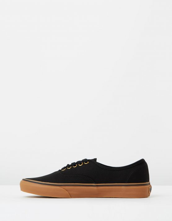 Vans Authentic Black Rubber Mens Trainers 3
