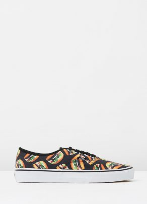 Vans Authentic Late Night Blk Hamburgers Mens Trainers 1