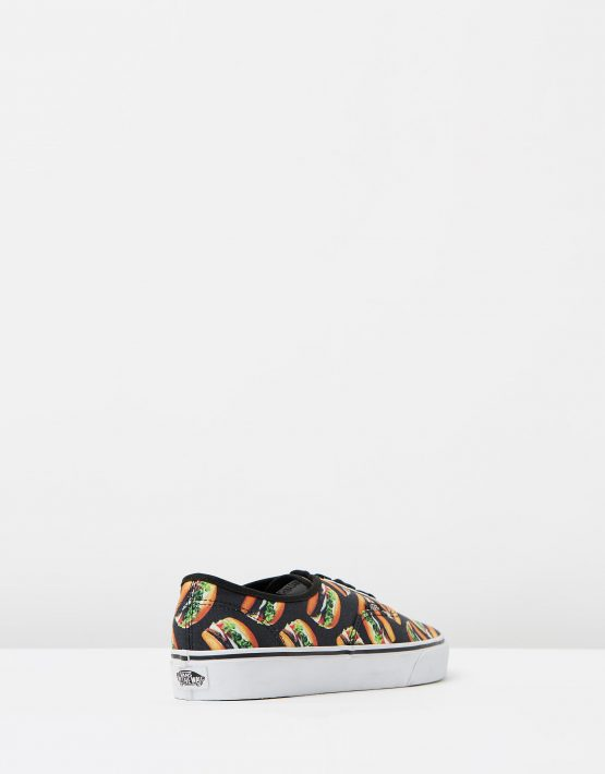 Vans Authentic Late Night Blk Hamburgers Mens Trainers 2
