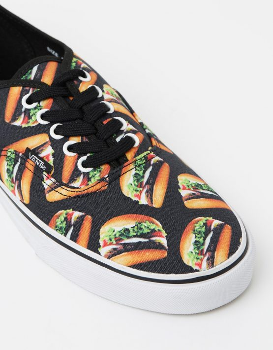 Vans Authentic Late Night Blk Hamburgers Mens Trainers 4
