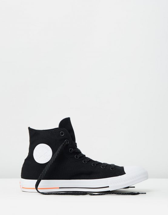 Converse Chuck Taylor All Star Hi Shield Canvas Black White Lava 1