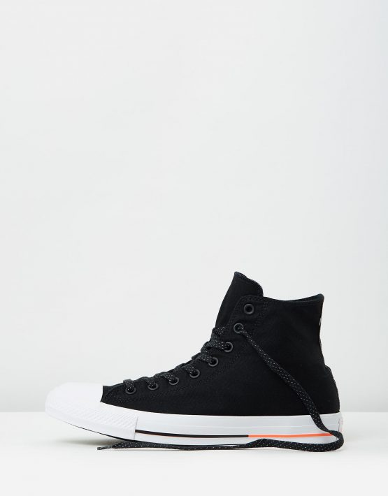 Converse Chuck Taylor All Star Hi Shield Canvas Black White Lava 3
