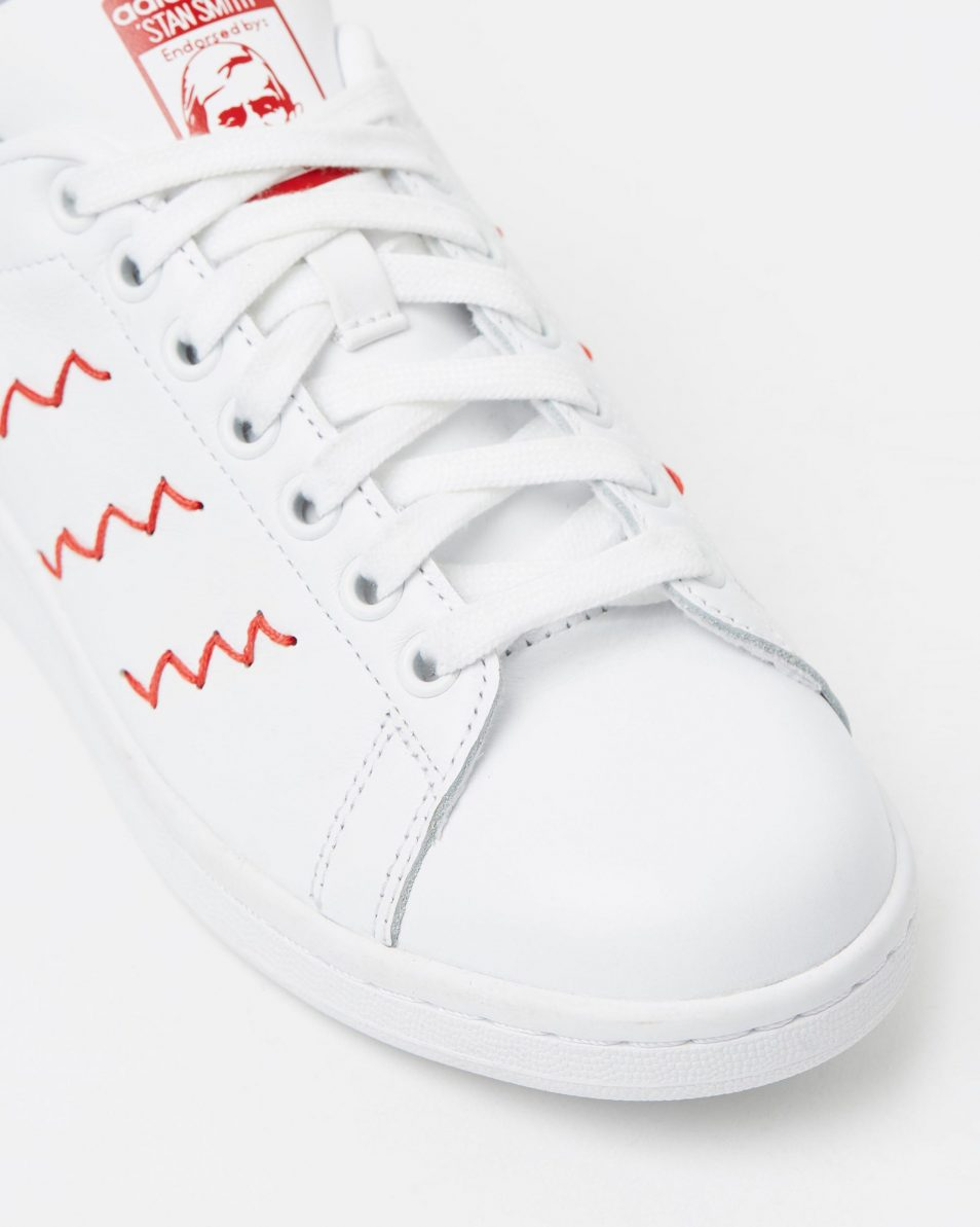 Adidas Womens Stan Smith W Red White 4