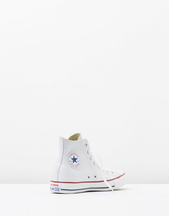 Converse Chuck Taylor All Star Leather Hi White 2