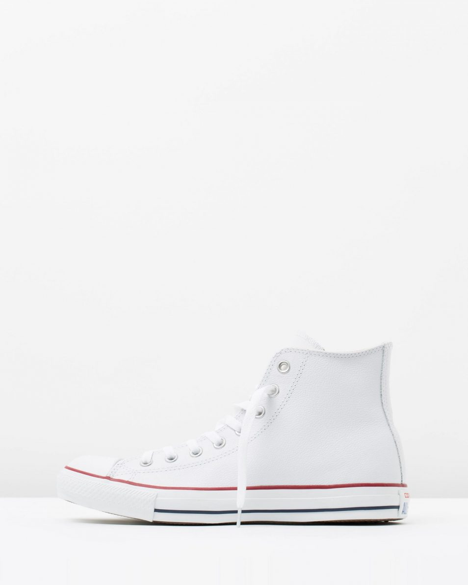 Converse Chuck Taylor All Star Leather Hi White 3