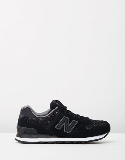 New Balance Womens WL574 Black Lace 1