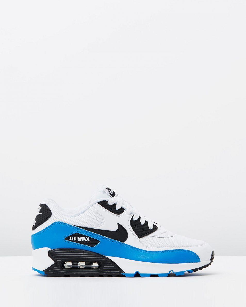 Nike Air Max 90 Essential Black White Photo Blue 1