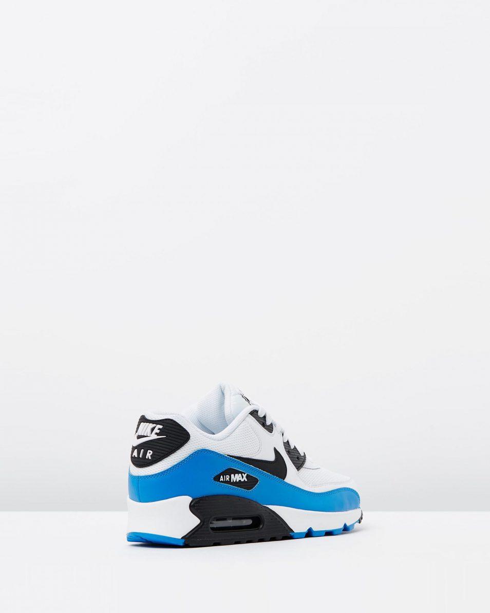 Nike Air Max 90 Essential Black White Photo Blue 2