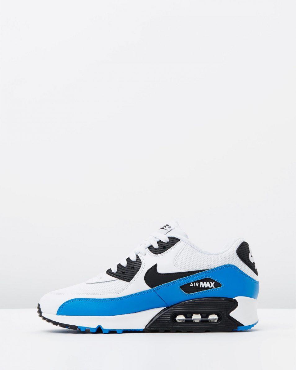 Nike Air Max 90 Essential Black White Photo Blue 3