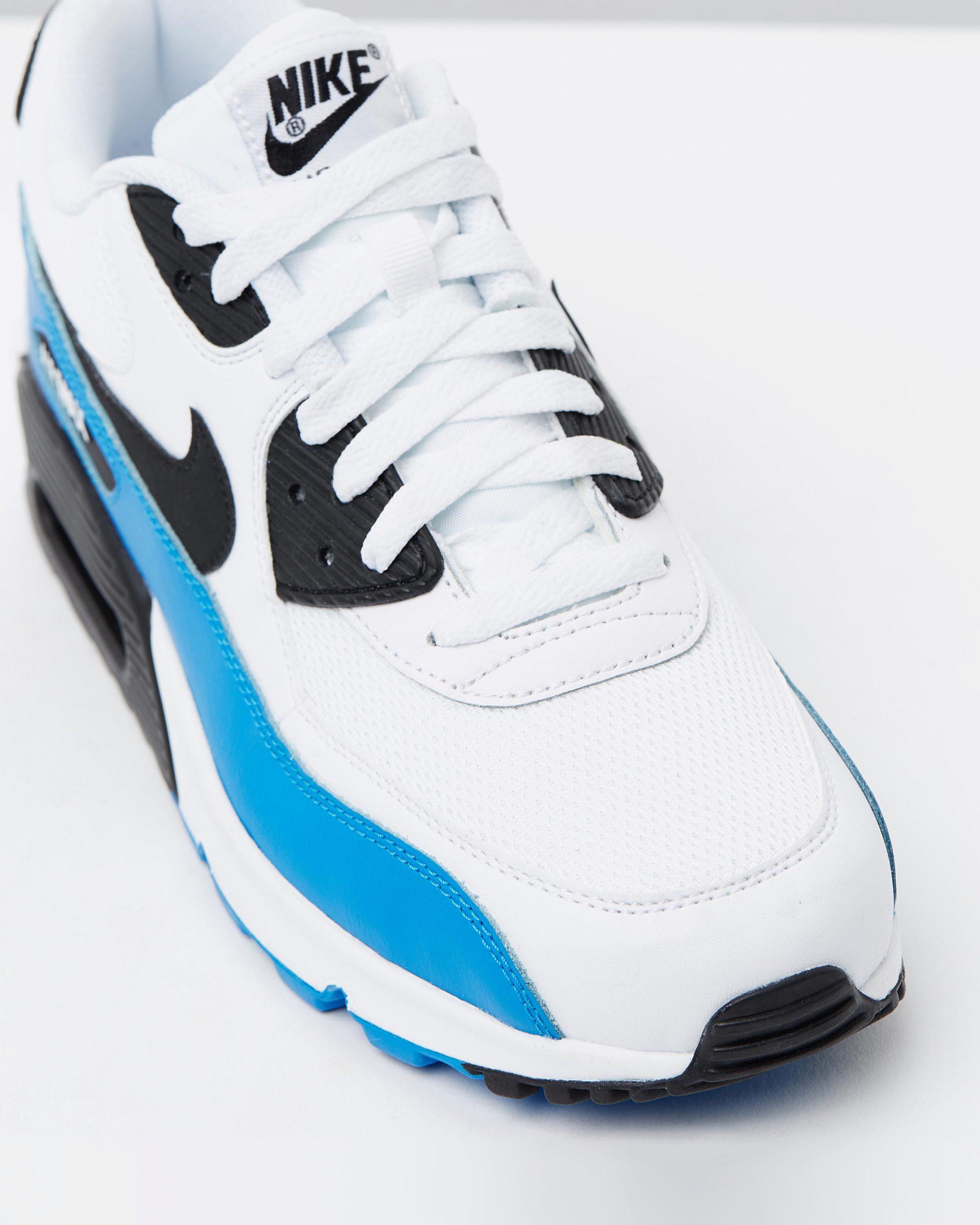 Propuesta alternativa salario negocio  Nike Air Max 90 Essential Black White & Photo Blue | 95Gallery.com
