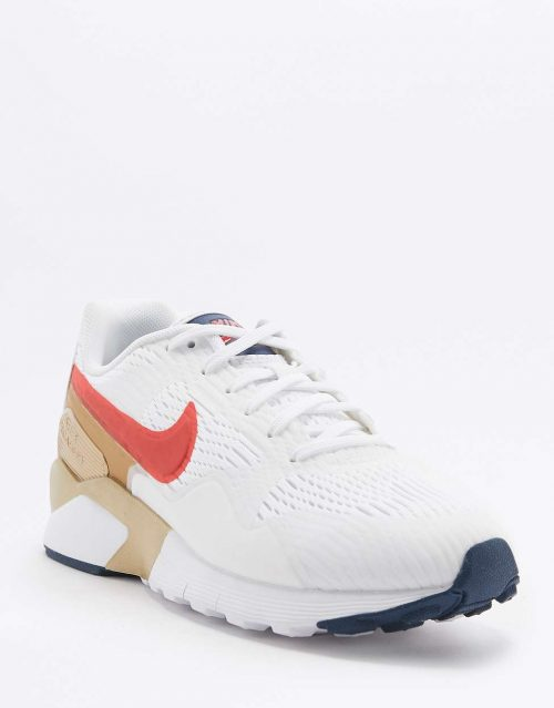 Nike Air Pegasus 92 Red Gold and Blue Trainers 1