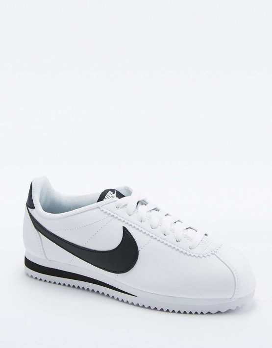 Nike Classic Cortez White Leather Trainers 1