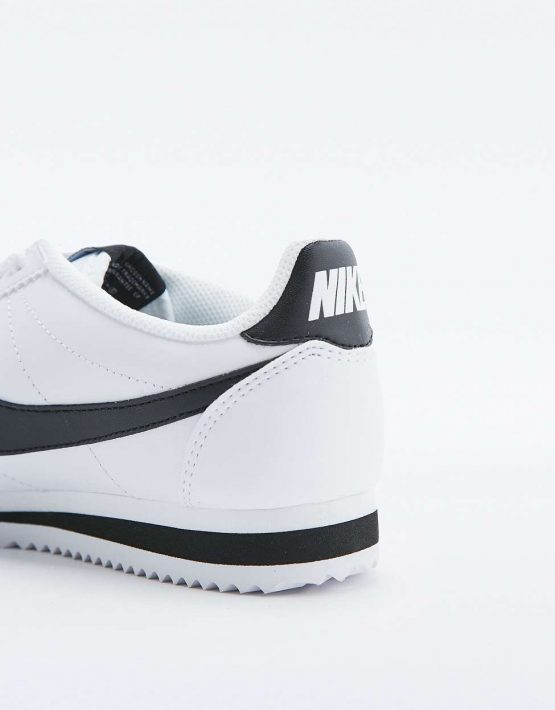 Nike Classic Cortez White Leather Trainers 3