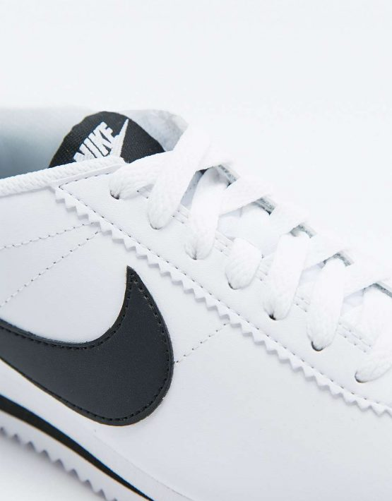 Nike Classic Cortez White Leather Trainers 4